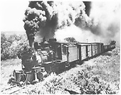 3/4 fireman's-side view of D&amp;RGW #278 with a freight train.<br /> D&amp;RGW