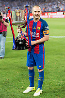 FC Barcelona's Andres Iniesta during Copa del Rey (King's Cup) Final between Deportivo Alaves and FC Barcelona at Vicente Calderon Stadium in Madrid, May 27, 2017. Spain.<br /> (ALTERPHOTOS/BorjaB.Hojas) /NortePhoto.com