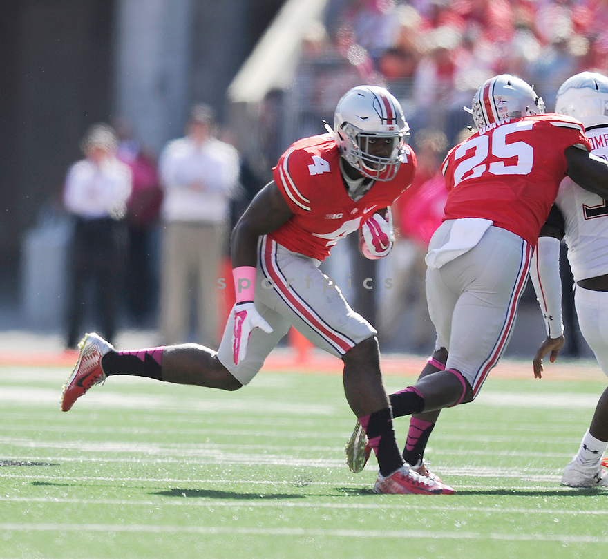 Ohio State Buckeyes Curtis Samuel (4) during a game against the Maryland Terrapins on October 10, 2015 at Ohio Stadium in Columbus, OH.  Ohio State beat Maryland 49-28.