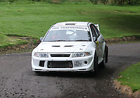 Alistairr Inglis / Colin Inglis near Junction 10 on the Gleaner Oil & Gas Cooper Park Special Stage 2 of the Gleaner Oil & Gas Speyside Stages Rally 2012, Round 6 of the RAC MSA Scotish Rally Championship which was organised by The 63 Car Club (Elgin) Ltd and based in Elgin on 4.8.12..........