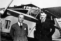 Vliegtuigbouwers Jean Stampe en Maurice Vertongen.