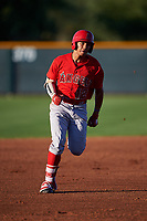 AZL Angels Jose Reyes (12) runs to third base during an Arizona League game against the AZL D-backs on July 20, 2019 at Salt River Fields at Talking Stick in Scottsdale, Arizona. The AZL Angels defeated the AZL D-backs 11-4. (Zachary Lucy/Four Seam Images)