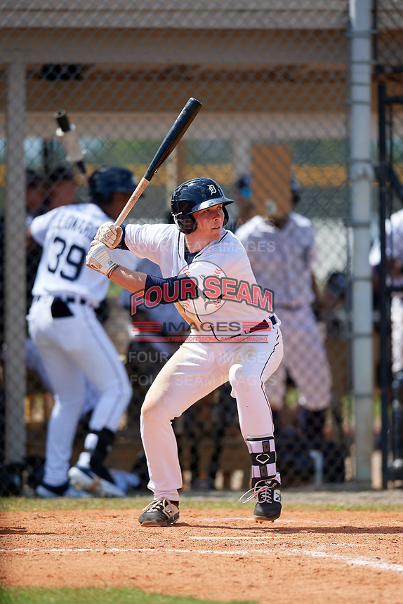Detroit Tigers Jake Holton (64) at bat during an Instructional League game against the Philadelphia Phillies on September 19, 2019 at Tigertown in Lakeland, Florida.  (Mike Janes/Four Seam Images)