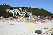 May 18, 2011; Minamisanriku, Miyagi Pref., Japan - The skeletal remains of a gas station in Minamisanriku after the magnitude 9.0 Great East Japan Earthquake and Tsunami that devastated the Tohoku region of Japan on March 11, 2011.