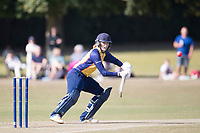 Kelly Castle of Essex deftly plays to wide third during Upminster CC vs Essex CCC, Benefit Match Cricket at Upminster Park on 8th September 2019