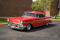 1957 Cruiser Class (#141C) – 1957 Chevrolet Bel Air 2-Door Hardtop registered to James Bishop is pictured during 4th State Representative Chevy Show on Saturday, July 2, 2016, in Fort Wayne, Indiana. (Photo by James Brosher)
