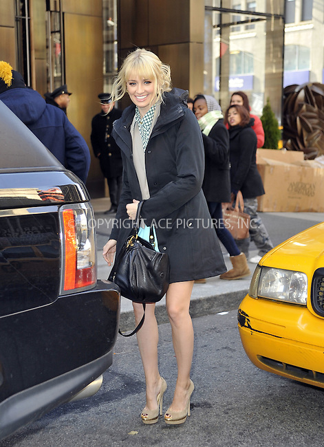 WWW.ACEPIXS.COM....November 29 2012, New York City....Actress Beth Behrs leaves a Soho hotel on November 29 2012 in New York City......By Line: Curtis Means/ACE Pictures......ACE Pictures, Inc...tel: 646 769 0430..Email: info@acepixs.com..www.acepixs.com