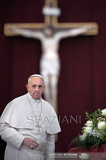 Pope Francis  the Pentecost vigil on St Peter's square at the Vatican. May 18, 2013