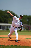 GCL Tigers pitcher Carlos Lara (37) delivers a pitch during the first game of a doubleheader against the GCL Yankees 1 on August 5, 2015 at Tigertown in Lakeland, Florida.  GCL Tigers derated the GCL Yankees 5-2.  (Mike Janes/Four Seam Images)
