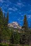 The 3758m high Teewinot Mountain, Grand Teton National Park, Wyoming