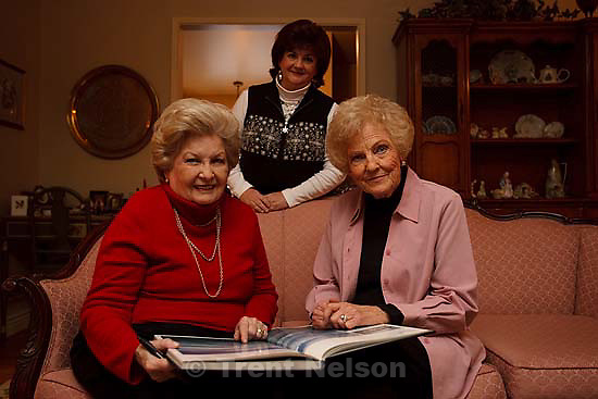 Elaine Holbrook and her friend, Shirley Welch, started meeting in 1957 and officially formed the Triunus Literary Club in 1958. They were photographed in Holbrook's home where the club's first meetings were held Wednesday, December 23, 2009. Left to right, Elaine Holbrook, Lisa Cena (Holbrook's daughter) and Shirley Welch