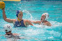BERKELEY, CA - April 15, 2017: The Cal Bears Women's Water Polo team vs the USC Trojans at the Spieker Aquatics Complex. Final score, Cal 3, USC 6.