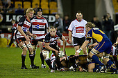 Kevin Farrell passes from a midfield ruck. Air New Zealand Cup rugby game played at Mt Smart Stadium, Auckland, between Counties Manukau Steelers & Otago on Thursday August 21st 2008..Otago won 22 - 8 after leading 12 - 8 at halftime.