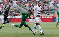 Chester, PA - Monday May 28, 2018:  Weston McKennieduring an international friendly match between the men's national teams of the United States (USA) and Bolivia (BOL) at Talen Energy Stadium.