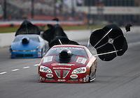 May 15, 2015; Commerce, GA, USA; NHRA pro stock driver John Gaydosh Jr  during qualifying for the Southern Nationals at Atlanta Dragway. Mandatory Credit: Mark J. Rebilas-USA TODAY Sports