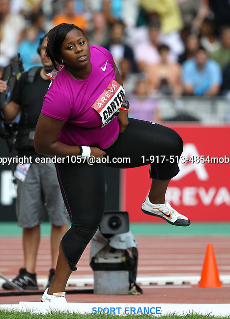 Michelle Carter at the Samsung Diamond League. Paris,France Friday, July  16, 2010. Photo by Errol Anderson.