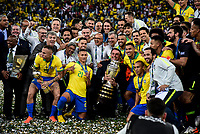 Rio de Janeiro (RJ), 07/07/2019 - Copa América / Final / Brasil x Peru -  O presidente Bolsonaro e a seleção Brasileira durante premiação de Campeão da Copa América, no Estádio Maracanã, neste domingo, 07. (Foto: Ricardo Botelho/Brazil Photo Press)