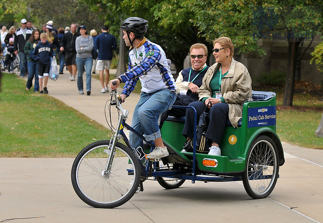 The pedal cab service on game day...Photo by Matt Cashore/University of Notre Dame..