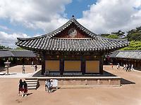 im buddhistischen Tempel Bulguksa, Gyeongju, Provinz Gyeongsangbuk-do, S&uuml;dkorea, Asien, UNESCO-Weltkulturerbe<br /> buddhist temple Bulguksa, Gyeongju,  province Gyeongsangbuk-do, South Korea, Asia, UNESCO world-heritage