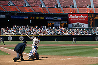 SAN FRANCISCO, CA:  Matt Williams of the San Francisco Giants bats during a game at Candlestick Park in San Francisco, California on July 4, 1994. (Photo by Brad Mangin)