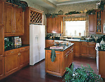 Custom Built Kitchen with wine cabinet.