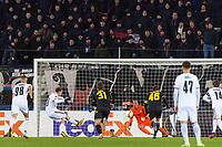 27th February 2020; St Jakob Park, Basel, Switzerland; UEFA Europa League Football, FC Basel versus APOEL Nicosia; Fabian Frei of FC Basel scores a penalty in the 38th minute to make it 1-0