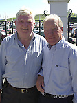 Charles Haughey with his life long friend Senator Tom Fitzgerald pictured in Dingle.<br /> Picture by Don MacMonagle