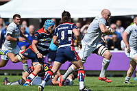 Matt Garvey of Bath Rugby goes on the attack. Pre-season friendly match, between Bristol Rugby and Bath Rugby on August 12, 2017 at the Cribbs Causeway Ground in Bristol, England. Photo by: Patrick Khachfe / Onside Images