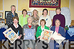 FABRIC: Showing off some of the cushions in which they made were the Derryquay ICA Ladies at the ICA Conference in the Brandon Hotel, Tralee on Saturday, Front l-r: Elanor Enright, Celic Cooke, Nuala O'Connor and Mary Spiollane. Back l-r: Breda Brpowne, Mary Scanlon, Sheila Sayers,Margaret Wa;lsh and Delia Finn.................................. ....