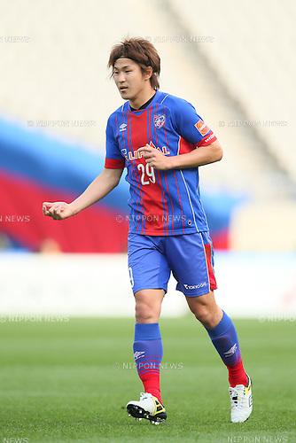 Kazunori Yoshimoto (FC Tokyo), <br /> APRIL 18, 2015 - Football /Soccer : <br /> 2015 J1 League 1st stage match <br /> between F.C. Tokyo 1-2 Sanfrecce Hiroshima <br /> at Ajinomoto Stadium, Tokyo, Japan. <br /> (Photo by YUTAKA/AFLO SPORT) [1040]