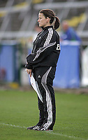 IRB touch Judge Sarah Corrigan in action at Ravenhill during the South Africa v France U19 World Championship.