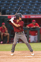 AZL Diamondbacks third baseman Blaze Alexander (3) at bat during an Arizona League game against the AZL Angels at Tempe Diablo Stadium on July 16, 2018 in Tempe, Arizona. The AZL Diamondbacks defeated the AZL Angels by a score of 4-3. (Zachary Lucy/Four Seam Images)