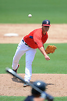 GCL Red Sox pitcher Madison Youngier (11) during a game against the GCL Twins on July 19, 2013 at JetBlue Park at Fenway South in Fort Myers, Florida.  GCL Red Sox defeated the GCL Twins 4-2.  (Mike Janes/Four Seam Images)