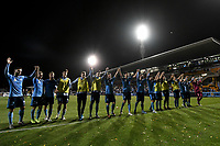 1st November 2019; Leichhardt Oval, Sydney, New South Wales, Australia; A League Football, Sydney Football Club versus Newcastle Jets; the Sydney team celebrate in front of their fans after winning the game 4-1 - Editorial Use