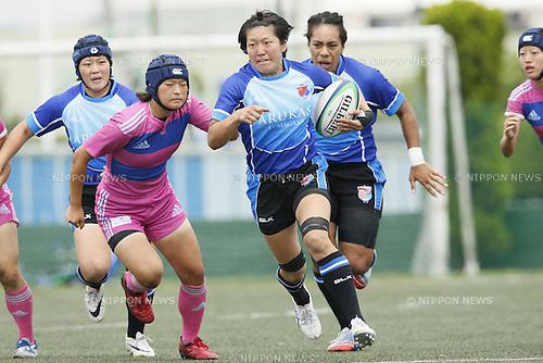 Aya Takeuchi (ARUKAS),<br /> JULY 20, 2014 - Rugby : <br /> Women's Sevens Series 2014 Yokohama <br /> ARUKAS QUEEN KUMAGAYA 44-5 Otemon Gakuin University<br /> at YCAC ground in Kanagawa, Japan. <br /> (Photo by Shingo Ito/AFLO SPORT) [1195]