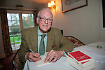 OIC - ENTSIMAGES.COM – Peter Hennessy author of Establishment and Meritocracy signs copies of his books after talking at the fifteenth Hay Festival Winter Weekend which takes place in venues around Hay-on-Wye  on the 28th 29th & 30th November. This year the Festival is honoured with the attendance of Booker Prize-winners Graham Swift and Eleanor Catton, language experts David and Ben Crystal, Laura Bates, creator of the Everyday Sexism project, Danny Dorling on inequality & comedian Danny Ward. Hay-on-Wye, UK. 29th November, 2014. Photo: SnapDragon/Ents Images/OIC 0203 174 1069