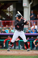 Erie SeaWolves first baseman Josh Lester (44) at bat during a game against the New Hampshire Fisher Cats on June 20, 2018 at UPMC Park in Erie, Pennsylvania.  New Hampshire defeated Erie 10-9.  (Mike Janes/Four Seam Images)