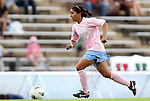 25 September 2011: North Carolina's Ranee Premji (CAN). The University of Virginia Cavaliers defeated the University of North Carolina Tar Heels 1-0 in overtime at Fetzer Field in Chapel Hill, North Carolina in an NCAA Division I Women's Soccer game. UNC players wore special pink jerseys for the game to be auctioned off as part of a fundraiser for the UNC Lineberger Comprehensive Cancer Center.