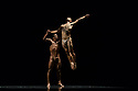 """London, UK. 26.09.2017. Acosta Danza, the new dance company founded by Cuban dancer, Carlos Acosta, receives its UK premiere at Sadler's Wells. The piece shown is: """"El cruce sobre el Niagara"""", choreographed by Marianela Boan. Picture shows: Carlos Luis Blanco, Alejandro Silva. Photograph © Jane Hobson."""