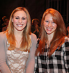 Making their Brioadway Debuts: Stephanie Martignetti & Kaitlyn Davidson.during the Broadway Opening Night Gypsy Robe Ceremony honoring Cameron Adams in 'Nice Work If You Can Get It' at the ImperialTheatre on 4/24/2012 in New York City.