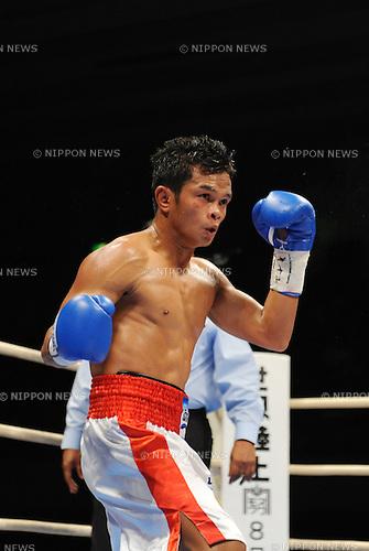 Panomroonglek Kaiyanghadaogym (THA),.APRIL 7, 2013 - Boxing :.Panomroonglek Kaiyanghadaogym of Thailand during the WBA bantamweight title bout at Bodymaker Colosseum (Osaka Prefectural Gymnasium) in Osaka, Japan. (Photo by Mikio Nakai/AFLO)