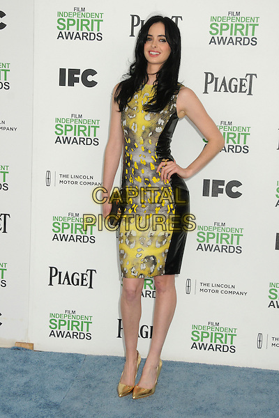 1 March 2014 - Santa Monica, California - Krysten Ritter. 2014 Film Independent Spirit Awards - Arrivals held at Santa Monica Beach. <br /> CAP/ADM/BP<br /> &copy;Byron Purvis/AdMedia/Capital Pictures