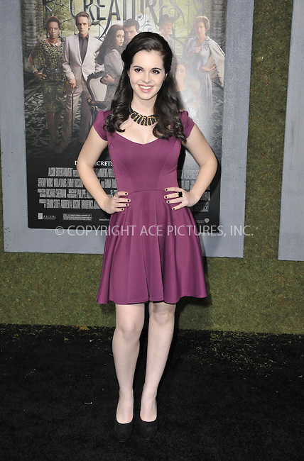 WWW.ACEPIXS.COM....February 6 2013, LA....Vanessa Marano arriving at the Los Angeles premiere of 'Beautiful Creatures' at TCL Chinese Theatre on February 6, 2013 in Hollywood, California.....By Line: Peter West/ACE Pictures......ACE Pictures, Inc...tel: 646 769 0430..Email: info@acepixs.com..www.acepixs.com