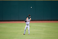Jupiter Hammerheads center fielder Aaron Knapp (7) catches a fly ball during a game against the Bradenton Marauders on May 25, 2018 at LECOM Park in Bradenton, Florida.  Jupiter defeated Bradenton 3-2.  (Mike Janes/Four Seam Images)
