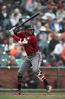 SAN FRANCISCO, CA - APRIL 11:  Ketel Marte #4 of the Arizona Diamondbacks bats against the San Francisco Giants during the game at AT&T Park on Wednesday, April 11, 2018 in San Francisco, California. (Photo by Brad Mangin)