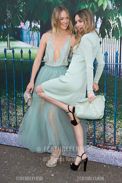 Suki Waterhouse &amp; Immi Waterhouse at The Serpentine Gallery Summer Party 2015 at The Serpentine Gallery, London.<br /> July 2, 2015  London, UK<br /> Picture: Steve Vas / Featureflash