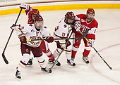 Sarah Steele (BU - 4), Erin Connolly (BC - 15), Haley McLean (BC - 13), Alexandra Calderone (BU - 11) - The Boston College Eagles defeated the visiting Boston University Terriers 5-3 (EN) on Friday, November 4, 2016, at Kelley Rink in Conte Forum in Chestnut Hill, Massachusetts.The Boston College Eagles defeated the visiting Boston University Terriers 5-3 (EN) on Friday, November 4, 2016, at Kelley Rink in Conte Forum in Chestnut Hill, Massachusetts.