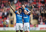 Joe Dodoo celebrates goal no 3 with Kenny Miller and Jason Holt