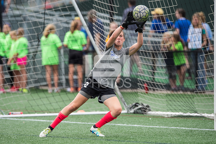Allston, MA - Sunday July 31, 2016: Jami Kranich prior to a regular season National Women's Soccer League (NWSL) match between the Boston Breakers and the Orlando Pride at Jordan Field.