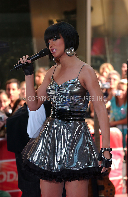 "WWW.ACEPIXS.COM . . . . . ......June 8 2007, New York City....Recording artist Rihanna performs during the NBC ""Today Show"" summer concert series at the Rockefeller Plaza.....Please byline: KRISTIN CALLAHAN - ACEPIXS.COM.. . . . . . ..Ace Pictures, Inc:  ..(646) 769 0430..e-mail: info@acepixs.com..web: http://www.acepixs.com"